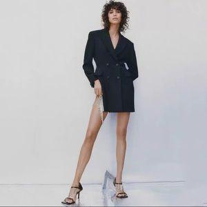 new zara black dress jacket for sale